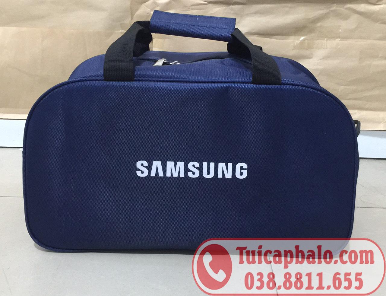 Sản xuất túi du lịch quà tặng in logo công ty Samsung Việt Nam
