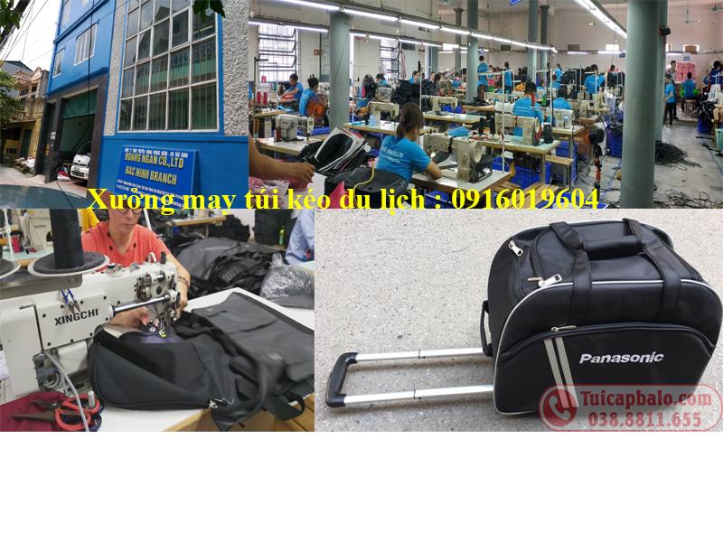 Xưởng may túi kéo du lịch tại Bắc Ninh của công ty Hoàng Ngân